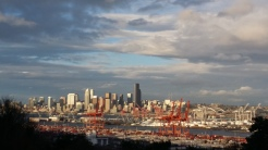 View of downtown Seattle from the West