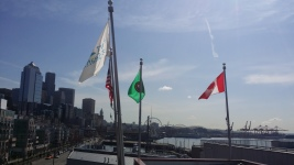 Pier 66 flags