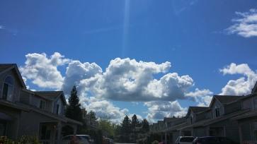 clouds over my neighborhood